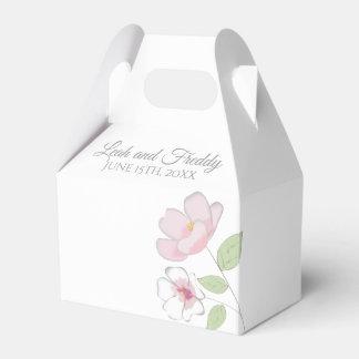 Flores de cerejeira que Wedding a caixa do favor