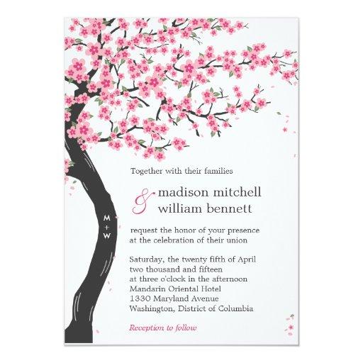 Cherry Blossom Wedding Invitations as perfect invitations sample