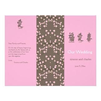 Flores de cerejeira que Wedding o programa