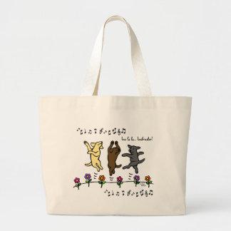 Flores de dança felizes dos desenhos animados do t bolsas