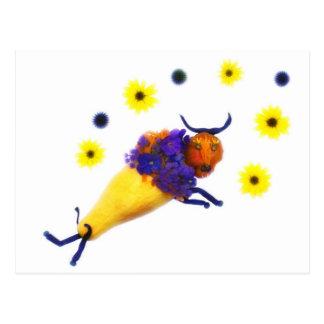Flores de $ do búfalo do vegetariano cartão postal