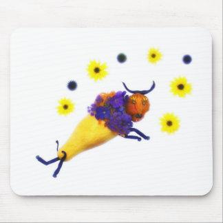 Flores de $ do búfalo do vegetariano mouse pad