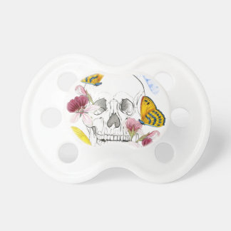 Flores de esqueleto chupeta