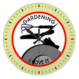 Flores de jardinagem e sonhos relógio grande