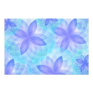 Flores de lótus do abstrato da mandala do impressã impressão fotográficas
