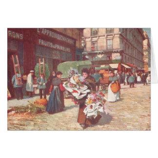 Flores de Paris para a venda Cartão Comemorativo