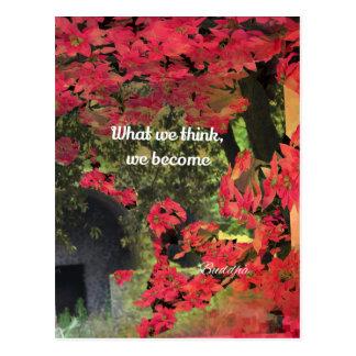 Flores de Pascua e mensagem espiritual Cartão Postal