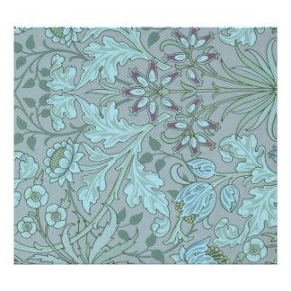 Flores decorativas azuis Pastel Impressão De Foto