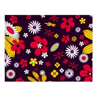 Flores decorativas cartão postal