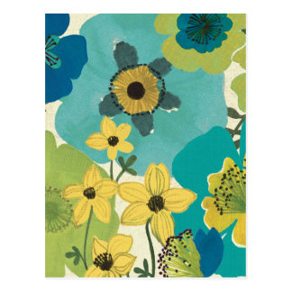 Flores decorativas do jardim cartão postal