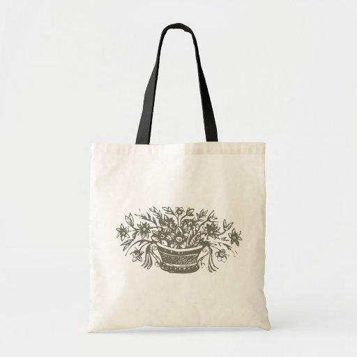 Flores desenho flowers bolsa para compras