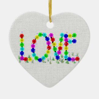 Flores do amor do Hippie Ornamento Para Arvore De Natal
