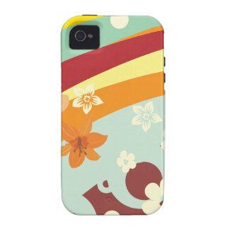 Flores do arco-íris capinhas iPhone 4/4S