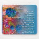 Flores do azul da serenidade mouse pads
