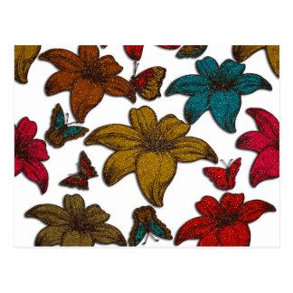 Flores do brilho cartão postal