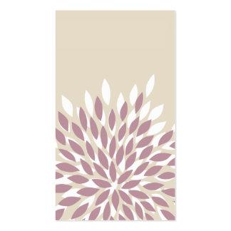 flores do cartão de visita