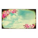 Flores do cartão de visita no céu