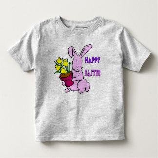 Flores do coelhinho da Páscoa Camiseta Infantil