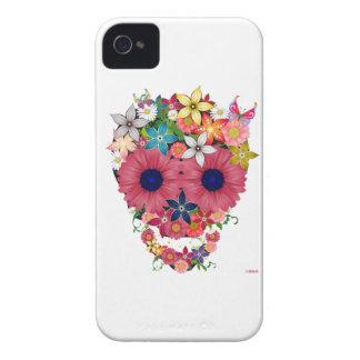 Flores do crânio capinha iPhone 4