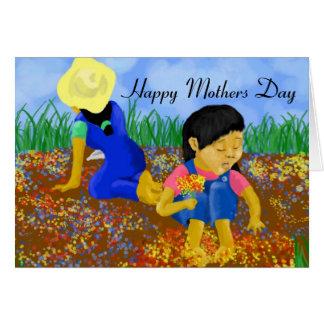 Flores do dia das mães cartão comemorativo