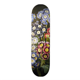 Flores do jardim da aguarela do vintage shape de skate 18,7cm