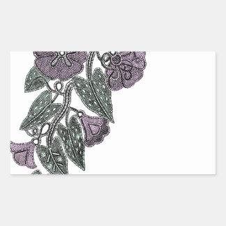 Flores do laço adesivo retangular