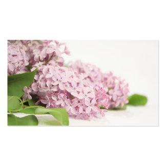 Flores do Lilac no branco Cartão De Visita
