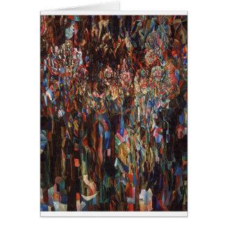 Flores do Pavel de florescência universal Filonov Cartão Comemorativo
