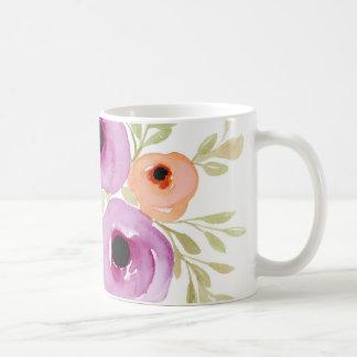 Flores do primavera - cozinha floral rústica do caneca de café