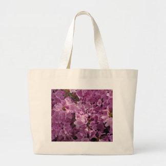 Flores do rododendro de Violett Sacola Tote Jumbo