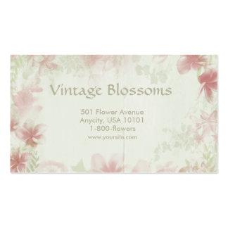 Flores do vintage cartão de visita