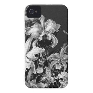 Flores do vintage de Black&White Capa Para iPhone