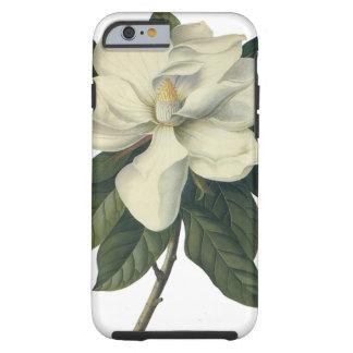 Flores do vintage, flor branca de florescência da capa tough para iPhone 6