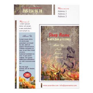 Flores do vintage - insecto panfleto personalizado