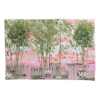 Flores e bambus de Lotus - 3D rendem