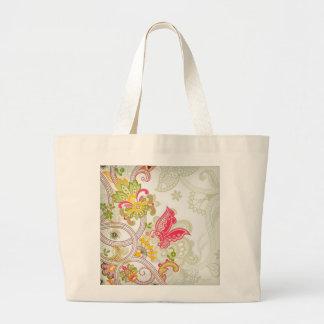 flores e borboletas bolsa