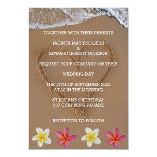 Flores e convites de casamento tropicais da praia