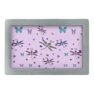 flores e libélulas coloridas