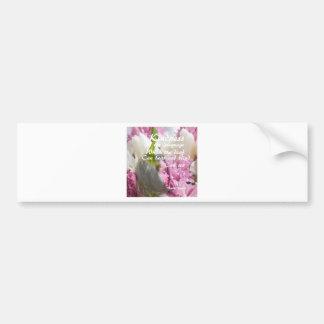 Flores e mensagem sobre a bondade adesivo para carro