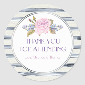 Flores e obrigado das listras você adesivo