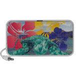 Flores e tartaruga do hibiscus de Havaí Caixinhas De Som Para iPod