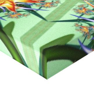Flores e videiras impressão em tela