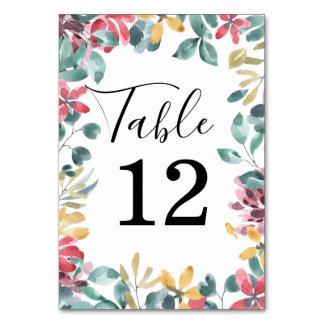 Flores elegantes que Wedding o cartão do número da