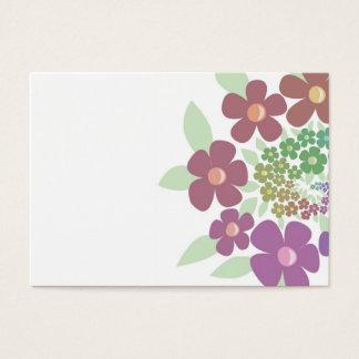 Flores espirais em cores pastel cartão de visitas