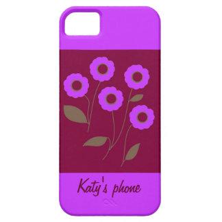 Flores estilizados, em produtos customizáveis capa barely there para iPhone 5