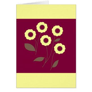 Flores estilizados em produtos customizáveis cartão