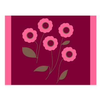 Flores estilizados, em produtos customizáveis cartoes postais