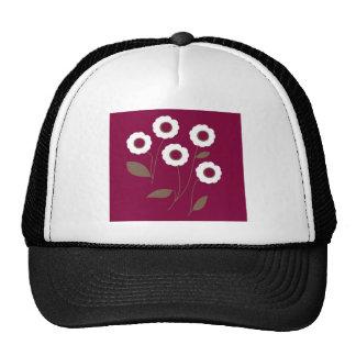 Flores estilizados em produtos customizáveis bones