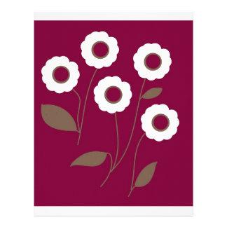 Flores estilizados, em produtos customizáveis papeis de carta personalizados