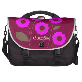 Flores estilizados nas bolsas customizáveis mochila para notebook